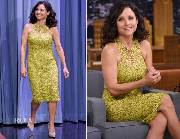 Julia Louis-Dreyfus In Lela Rose - The Tonight Show Starring Jimmy Fallon