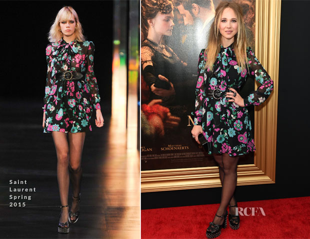 Juno Temple In Saint Laurent -  'Far From The Madding Crowd' New York Screening