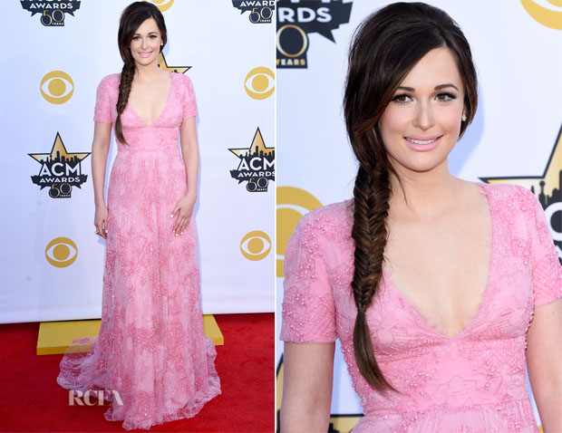 Kacey Musgraves In Monique Lhuillier - 2015 ACM Awards