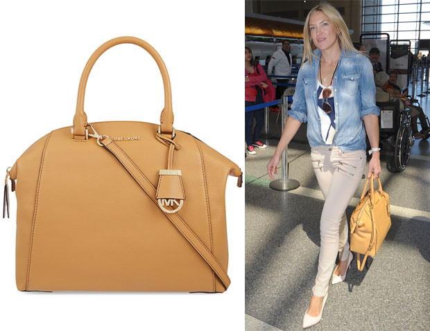 Kate Hudson's MICHAEL Michael Kors 'Riley' Leather Satchel