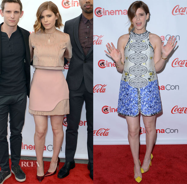 Kate Mara In Jonathan Simkhai & Giambattista Valli - CinemaCon 2015