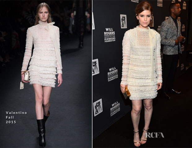 Kate Mara In Valentino - 2015 Will Rogers Pioneer of the Year Dinner