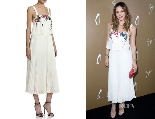 Katharine McPhee's Elle Sasson 'Luana' Embellished Silk Dress