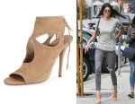 Kendall Jenner's Aquazzura 'Sexy Thing' Suede Cutout Sandals