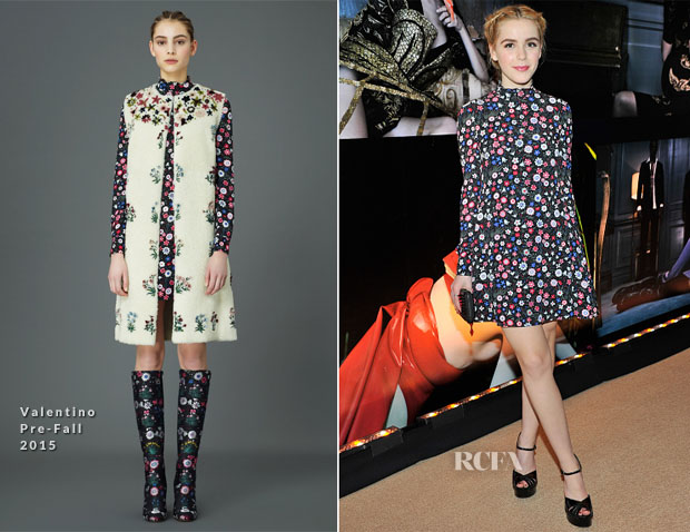 Kiernan Shipka In Valentino -  'W Stories' Event