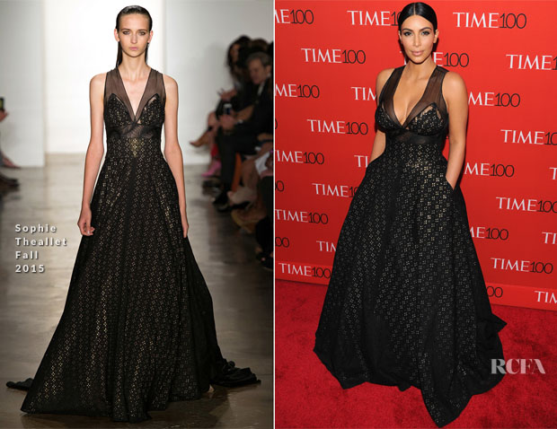Kim Kardashian In Sophie Theallet - 2015 Time 100 Gala