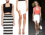 Kristin Cavallari's A.L.C. 'Ali' Sleeveless Knit Crop Top And Mason by Michelle Mason Asymmetrical Wrap Skirt
