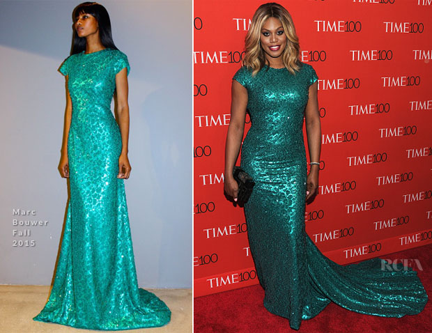 Laverne Cox In Marc Bouwer - 2015 Time 100 Gala