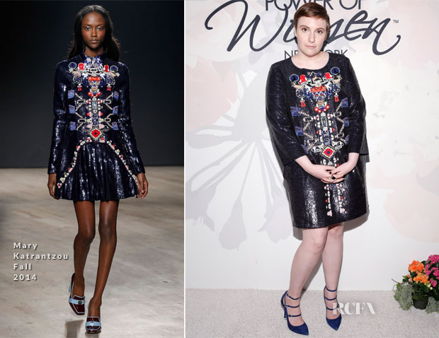 Lena Dunham In Mary Katrantzou - Variety's Power of Women New York