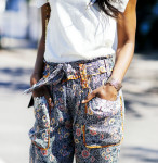 Isabel Marant top, Isabel Marant trousers, Topshop shoes & Andrew Gn bag