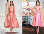 Louise Roe In Monique Lhuillier - 'Front Roe: How To Be The Leading Lady In Your Own Life' Book Launch