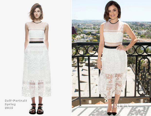 Lucy Hale In Self-Portrait - mark Spring Beauty Collection Launch