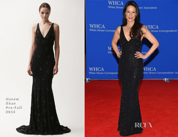 Lucy Liu In Naeem Khan - 2015 White House Correspondents' Association Dinner