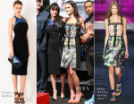 Michelle Rodriguez In Tamara Mellon and Jordana Brewster In Peter Pilotto - Vin Diesel's Hand & Footprint Ceremony