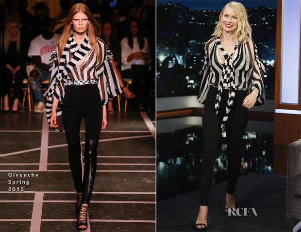 Naomi Watts In Givenchy - Jimmy Kimmel Live