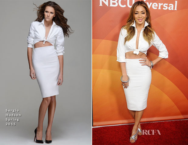 Nicole Scherzinger In Sergio Hudson - 2015 NBCUniversal Summer Press Day