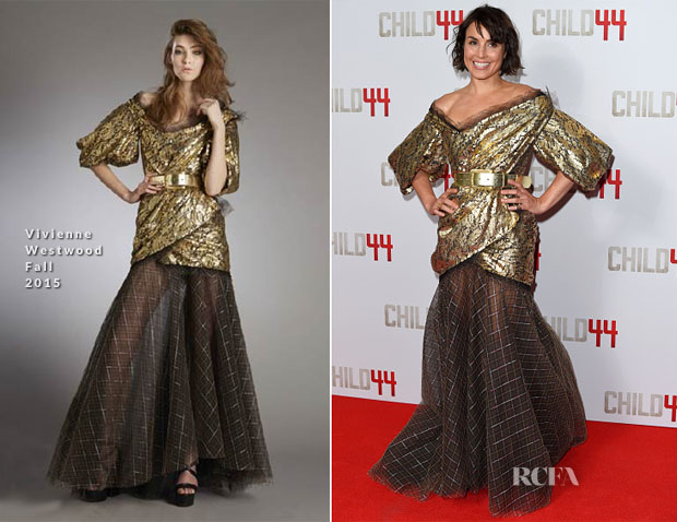 Noomi Rapace In Vivienne Westwood - 'Child 44' London Premiere