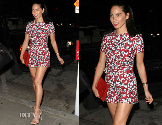 Olivia Munn In Mary Katrantzou - Out In West Hollywood