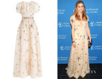 Olivia Palermo's Valentino Embellished Silk Organza Dress