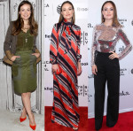 Olivia Wilde In Altuzarra, Dsquared² & Christian Dior - AOL Build Speaker Series, 'Tumbledown' & 'Meadowland' Tribeca Film Festival Premiere
