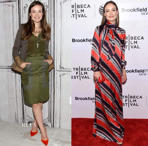 Olivia Wilde In Altuzarra, Dsquared², Christian Dior & Tory Burch - AOL Build Speaker Series & 2015 Tribeca Film Festival Premiere's