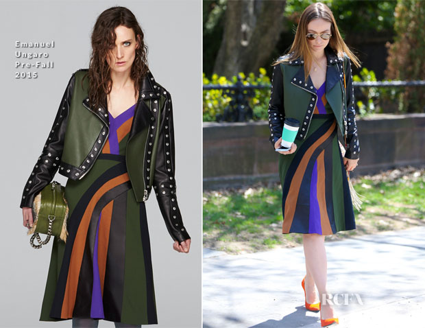 Olivia Wilde In Emanuel Ungaro - Out In New York City