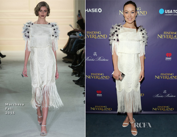 Olivia Wilde In Marchesa - 'Finding Neverland' Opening Night