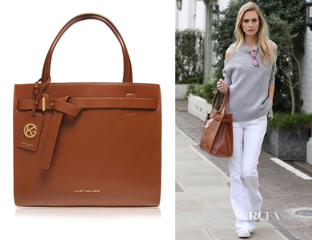 Poppy Delevingne's Kurt Geiger London 'Victoria Lea' Belted Tote