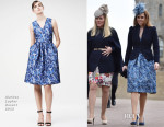 Princess Beatrice In Markus Lupfer - Easter Sunday Service