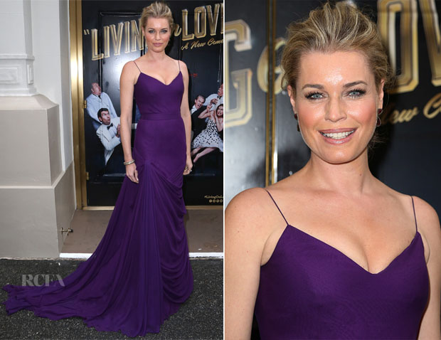 Rebecca Romijn In Vera Wang - 'Living On Love' Broadway Opening Night