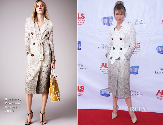 Renee Zellweger In Burberry Prorsum - 'One Starry Night From Broadway To Hollywood' Event