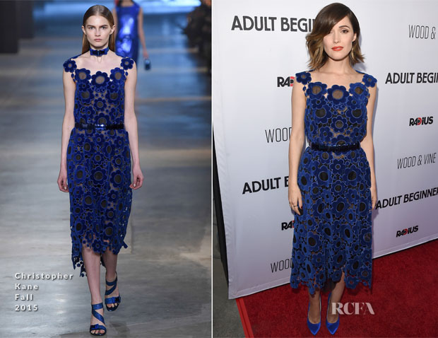 Rose Byrne In Christopher Kane - 'Adult Beginners' LA Premiere