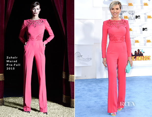 Scarlett Johansson In Zuhair Murad - 2015 MTV Movie Awards