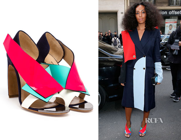 Solange Knowles' Nicholas Kirkwood Multi-Coloured Open Toe Sandals