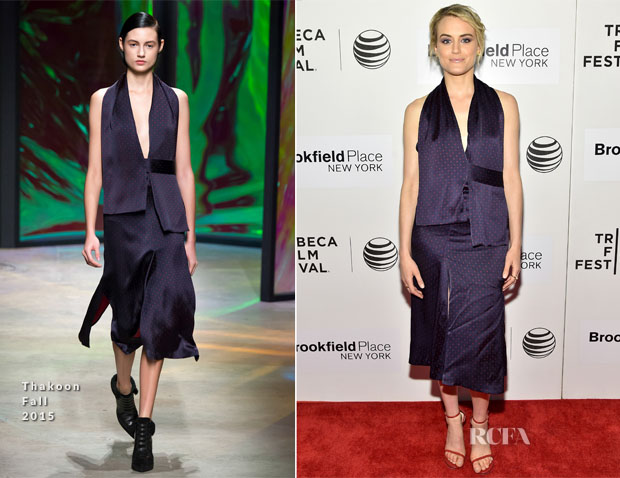 Taylor Schilling In Thakoon - 'The Overnight' Tribeca Film Festival Premiere