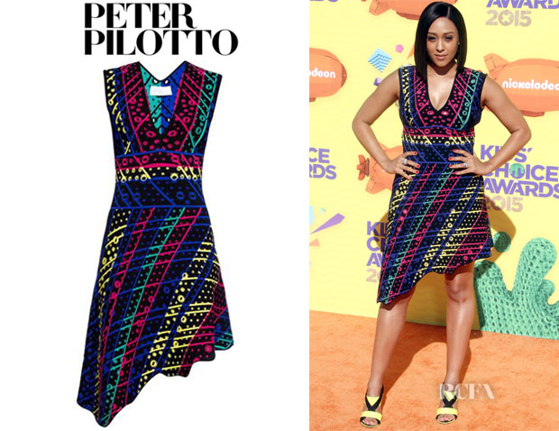 Tia Mowry-Hardrict's Peter Pilotto 'Galaxy' Broderie-Anglaise Knit Dress