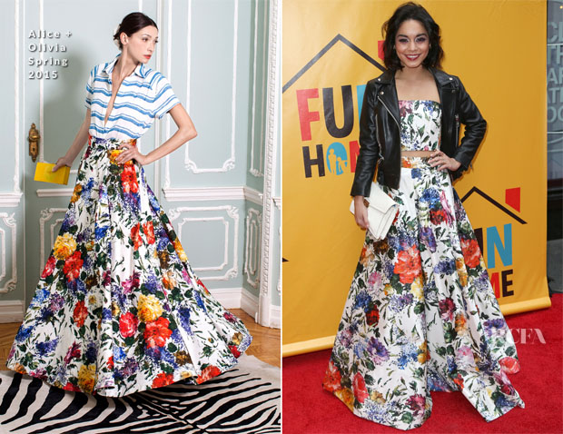 Vanessa Hudgens In Alice + Olivia - 'Fun Home' Broadway Opening Night
