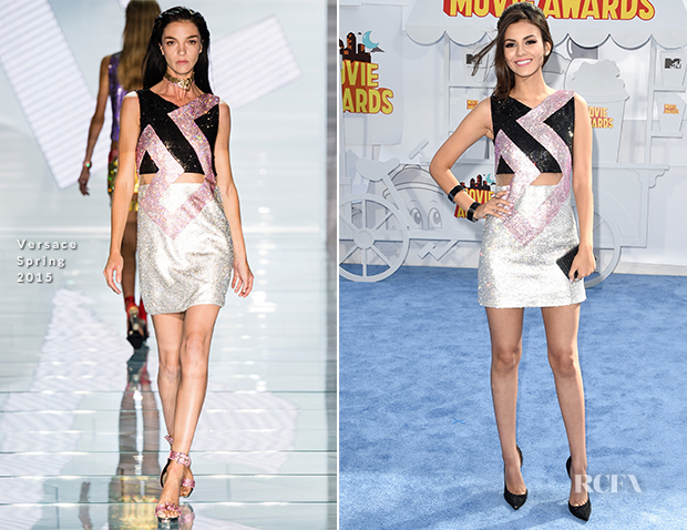 Victoria Justice In Versace - 2015 MTV Movie Awards