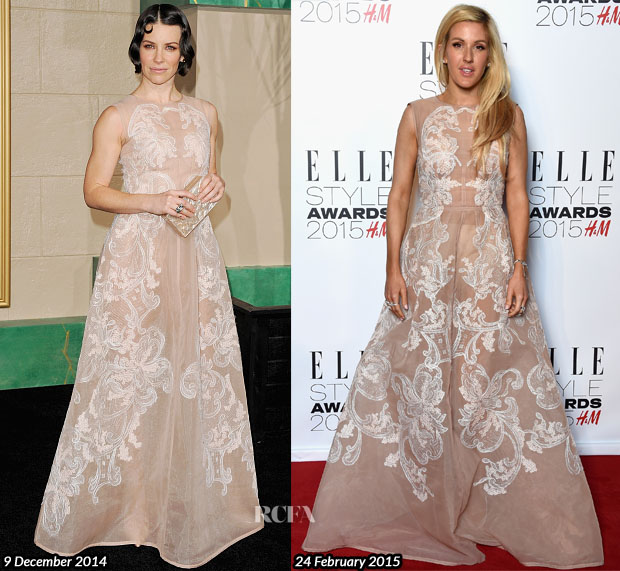 Who Wore Alberta Ferretti Better Evangeline Lilly or Ellie Goulding