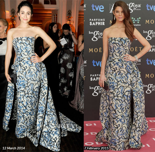 Who Wore Carolina Herrera Better Emmy Rossum or Juana Acosta