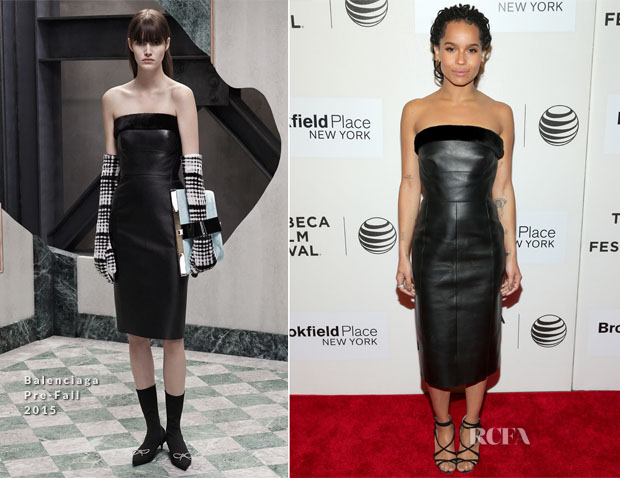Zoe Kravitz In Balenciaga - 'Good Kill' Tribeca Film Festival Premiere