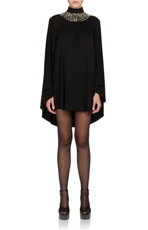 saint laurent sequin collar dress
