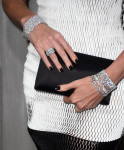 Charlize Theron's Dior clutch and Harry Winston jewels