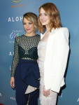 Rachel McAdams in Self-Portrait and Emma Stone in Emilio Pucci
