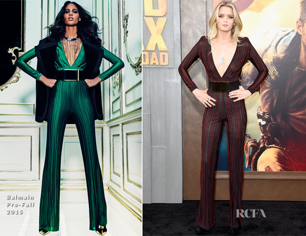 Abbey Lee In Balmain - 'Mad Max Fury Road' LA Premiere