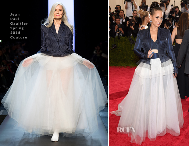 Alicia Keys In Jean Paul Gaultier Couture - 2015 Met Gala