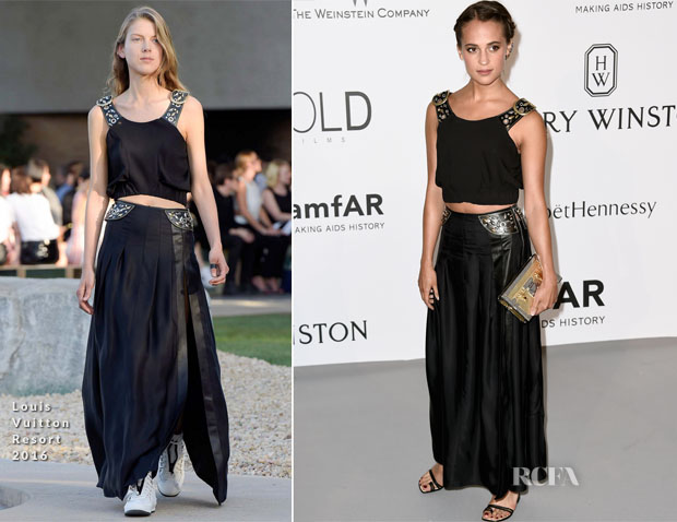 Alicia Vikander In Louis Vuitton - 2015 amfAR Cinema Against AIDS Gala