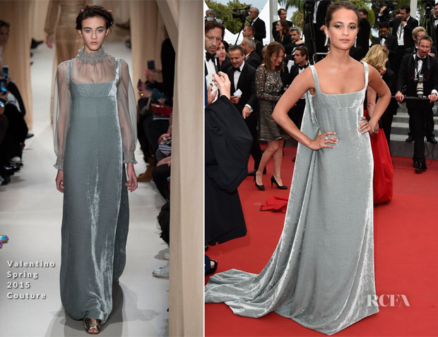 Alicia Vikander In Valentino Couture - 'Macbeth' Cannes Film Festival Premiere