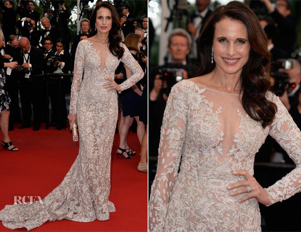 Andie MacDowell In Zuhair Murad - 'The Sea Of Trees' Cannes Film Festival Premiere