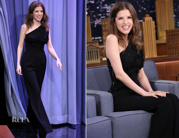 Anna Kendrick In Elie Saab - The Tonight Show Starring Jimmy Fallon